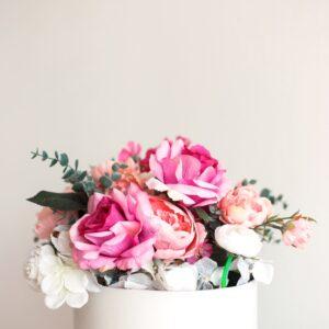 Arranjo floral oito